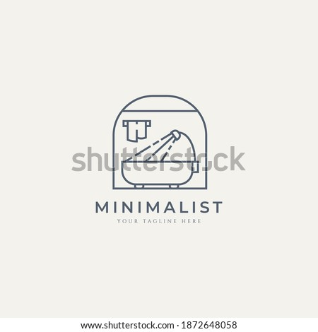 shower bathroom minimalist logo