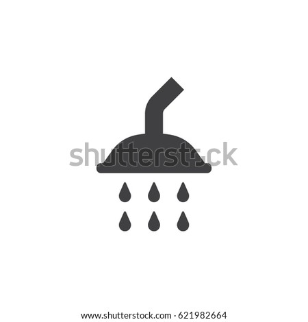 Shower icon on the white background