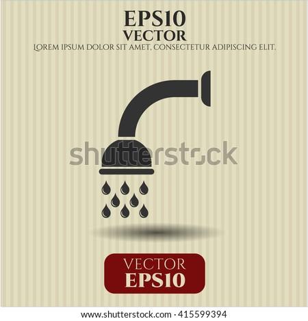Shower icon or symbol