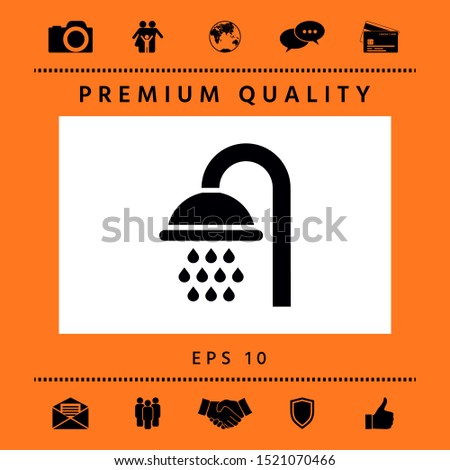 Shower icon symbol. Graphic elements for your design