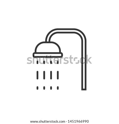 Shower icon template color editable. Shower symbol vector sign isolated on white background. Simple logo vector illustration for graphic and web design.