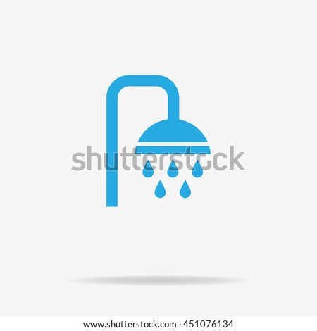 shower icon vector concept