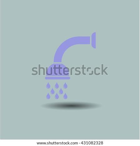 shower icon vector symbol flat eps jpg app web concept website