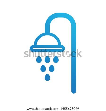 Shower logo template vector bath icon design