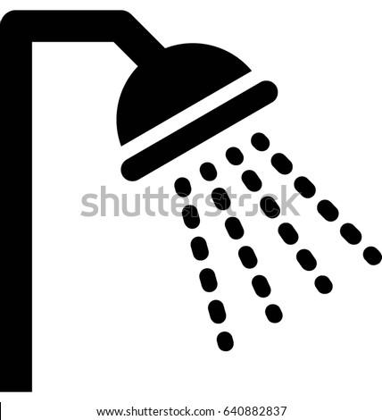 Shower Vector Icon