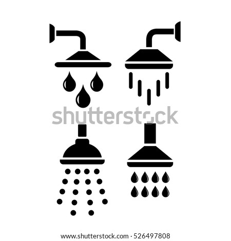 shower vector icon on white