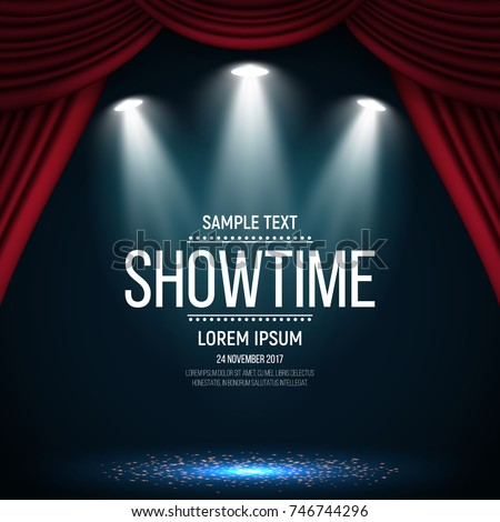showtime banner with curtain