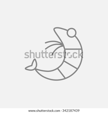 shrimp line icon for web