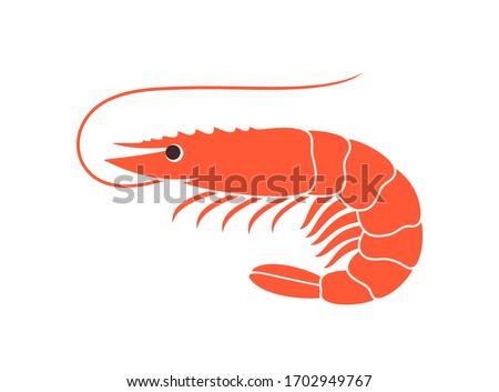 Shrimp logo. Isolated shrimp on white background. Prawns Stockfoto ©