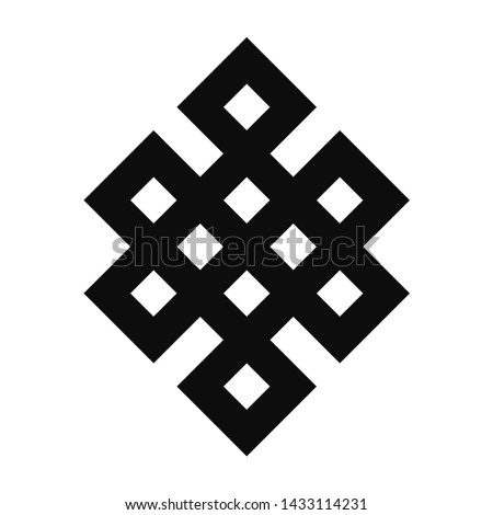 Shrivatsa. Endless Knot Vector Icon. Ancient Symbol.