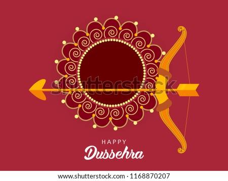 Shubh Dussehra wallpaper design background, Vector Illustration.
