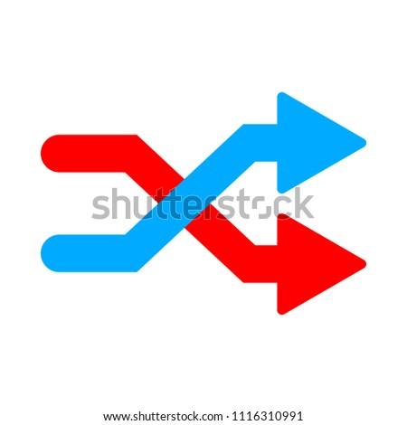 shuffling icon  change order ...
