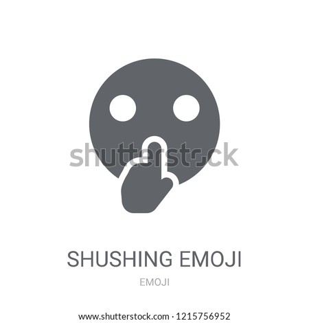 Shushing emoji icon. Trendy Shushing emoji logo concept on white background from Emoji collection. Suitable for use on web apps, mobile apps and print media.