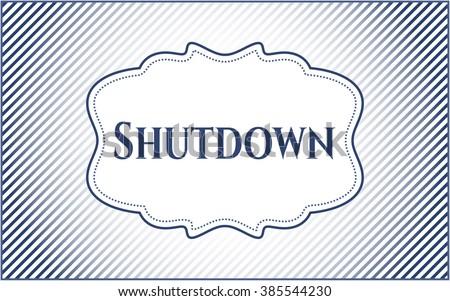 Shutdown banner