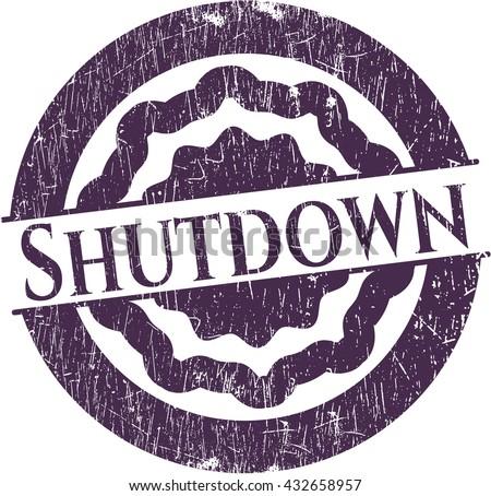 Shutdown rubber stamp