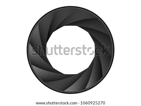 shutter aperture icon sign lens