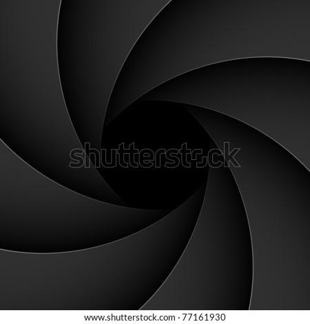 Shutter aperture. Vector. - stock vector