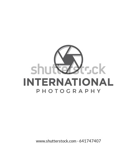 shutter camera photography logo icon  simple vector template