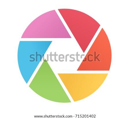 shutter logo in flat design