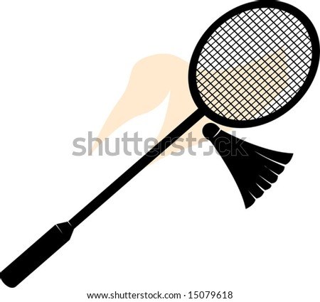 shuttle badminton racket and birdie