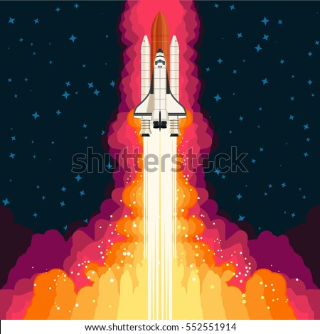 shuttle launch spaceship and