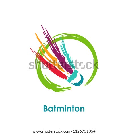 shuttlecocks splash badminton vector. You can use for Sport logo and Badminton Championship Logo. vector illustration