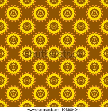 shweshwe pattern in yellow and