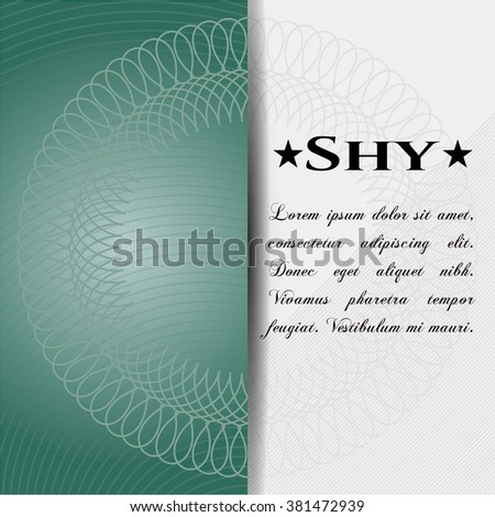 Shy retro style card, banner or poster
