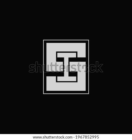 SI initial letters of company name monogram. SI typography logo.  Zdjęcia stock ©