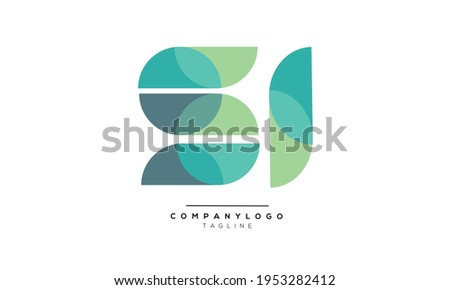 SI initials monogram letter text alphabet logo design Zdjęcia stock ©