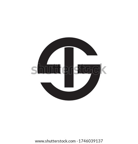 SI, IS Letter Logo Design with Creative Modern Trendy Typography and monogram logo. Zdjęcia stock ©