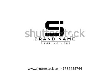 SI Logo Design Template Vector Graphic Branding Element. Zdjęcia stock ©
