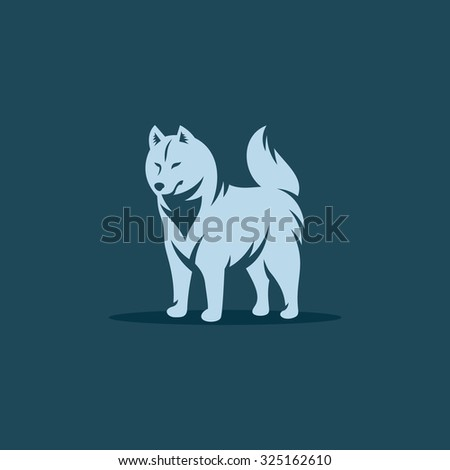 siberian husky dog vector