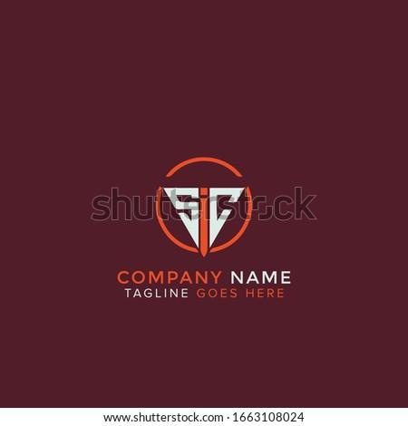 SIC circle logo round design vector Foto stock ©