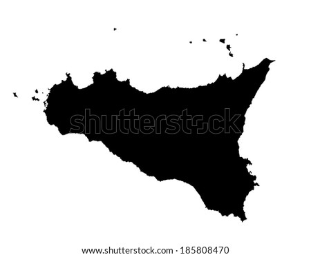 italy. silhouettes city. vector set for you design. |Sicily Landmark Silhouette