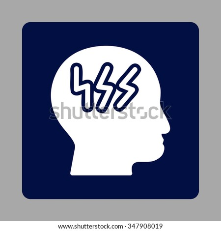 sick head vector icon style is