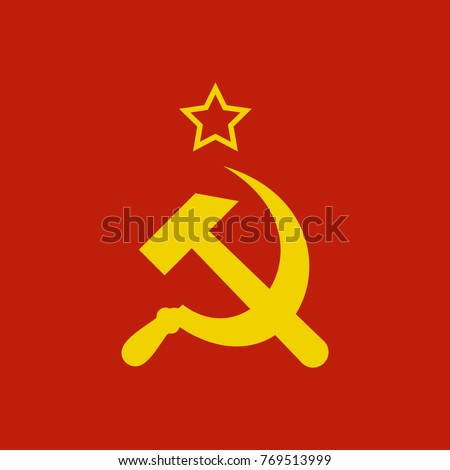 sickle and hammer ussr symbol