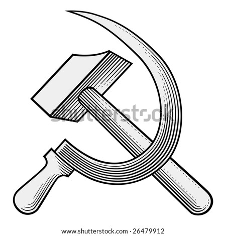 sickle and hammer vector
