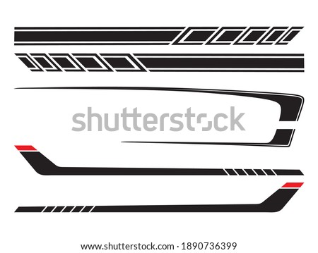 Side body vector  stripes decal Foto stock ©