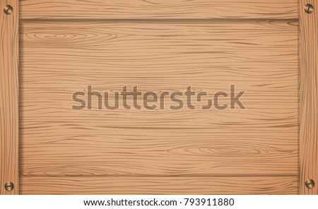 Side Of Brown Wooden Crate Box Or Frame With Screws