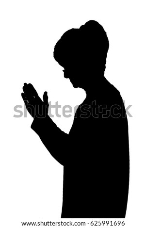 Royalty-free Silhouette of Man holding Knife in one ...
