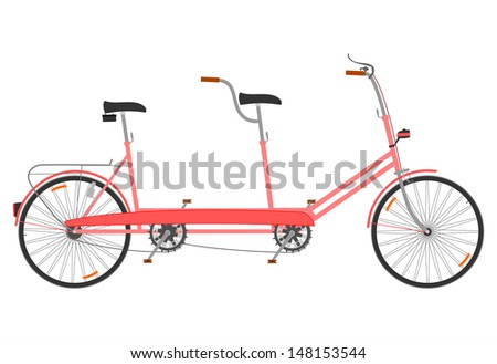 side view of a tandem in a