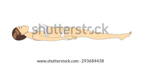 side view of woman sleeping