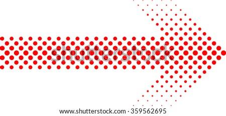 sideways dotted sign arrow