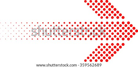 sideways. dotted sign. Arrow element for your design.Striped direction. vector illustration