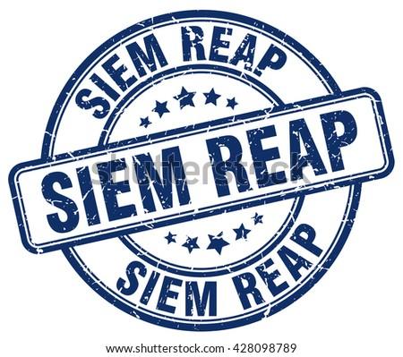 siem reap blue grunge round