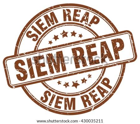 siem reap brown grunge round