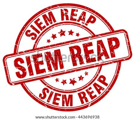 siem reap red grunge round