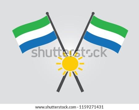sierra leone emblem sun
