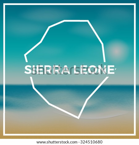 sierra leone map against the
